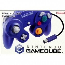 Manette Game Cube Violet Transparent officielle